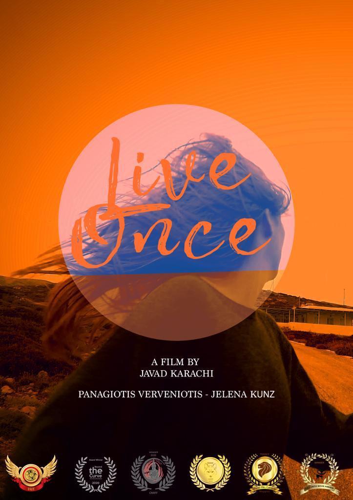 """Filmplakat mit Auszeichnungen by Chawan Noller - Spielfilm-Schnitt """"Live Once"""""""
