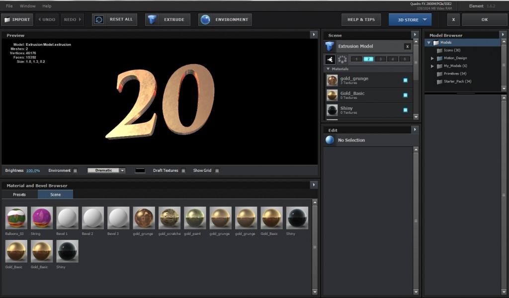 3D Integration für Damals war´s - Screenshot Element 3D